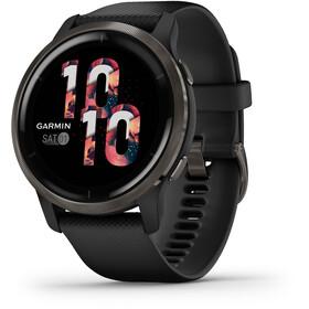 Garmin Venu 2 Smartwatch with Quick Change Silicone Watch Band 22mm, nero